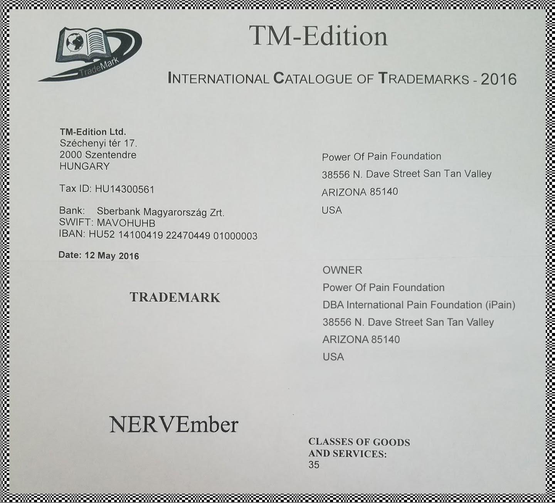 NERVEmber trademarks